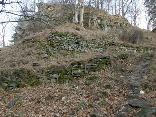 Zbytky zříceniny hradu Fürsternwald